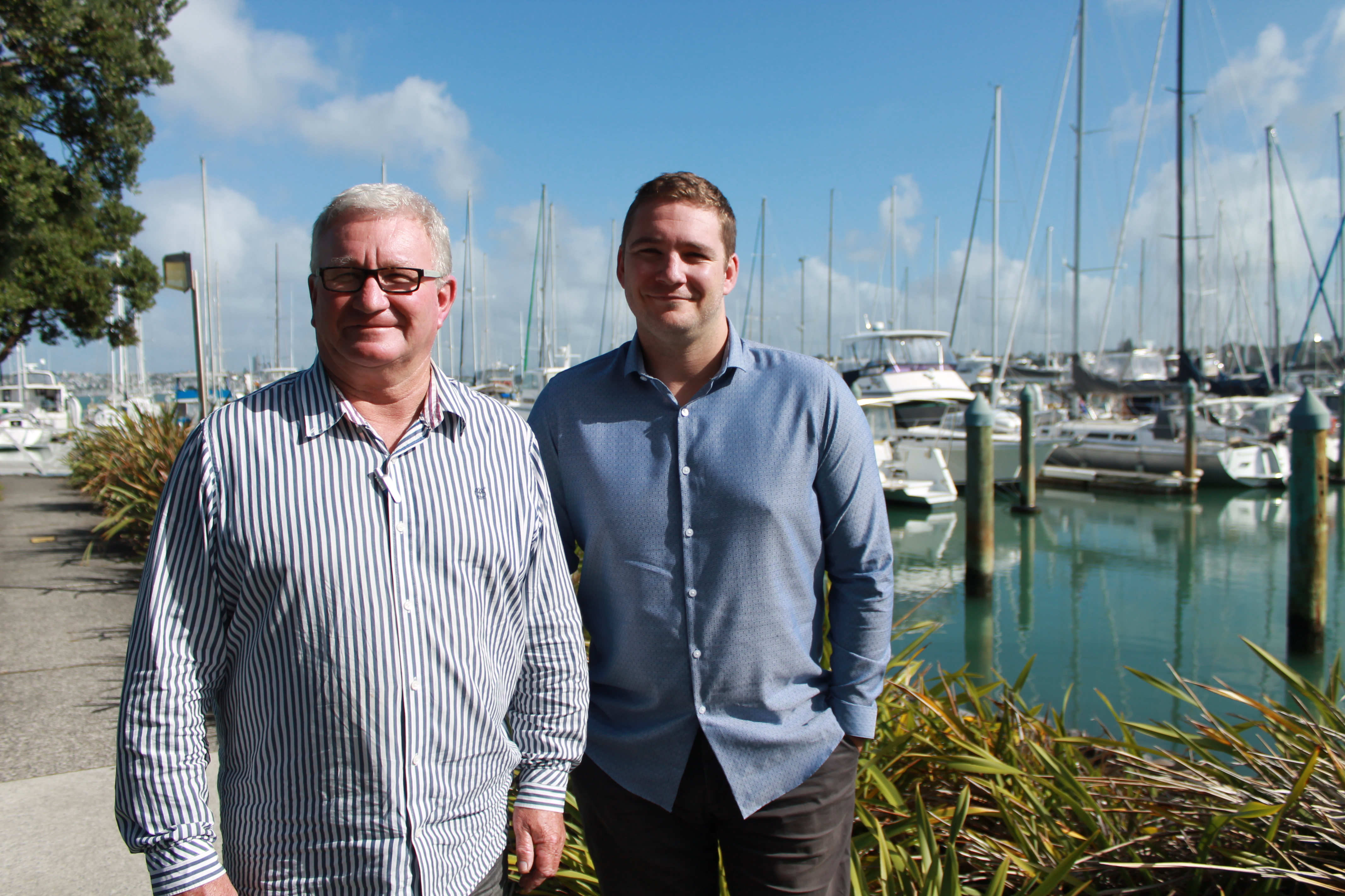 Peter and Will Crispin of New Zealand Boat Paint